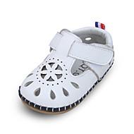baratos Sapatos de Menina-Para Meninas Sapatos Pele Verão Primeiros Passos Sandálias Velcro para Bebê Amarelo / Azul / Rosa claro