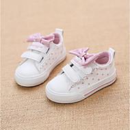 baratos Sapatos de Menina-Para Meninas Sapatos Couro Ecológico Primavera & Outono Conforto Tênis Laço / Poa para Bébé Branco / Preto / Rosa claro