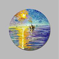 billige Nyheter-Hang malte oljemaleri Håndmalte - Landskap Moderne Lerret