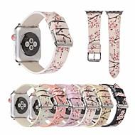 billiga Smart klocka Tillbehör-Klockarmband för Apple Watch Series 4/3/2/1 Apple Läderloop Äkta Läder Handledsrem