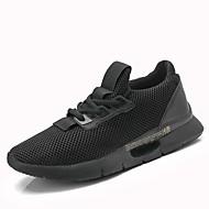 baratos Sapatos Masculinos-Homens Solas Claras Tricô / Com Transparência Verão Conforto Tênis Corrida / Atletismo Preto / Cinzento