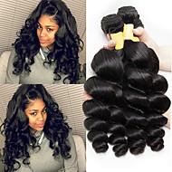 3 חבילות שיער מלזי גלי 8A שיער אדםלא מעוב טווה שיער אדם הארכה 8-28 אִינְטשׁ טבעי שוזרת שיער אנושי איכות מעולה מכירה חמה לנשים שחורות תוספות שיער אדם בגדי ריקוד נשים