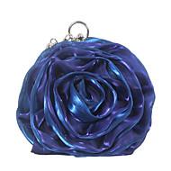 baratos Clutches & Bolsas de Noite-Mulheres Bolsas Seda Bolsa de Festa Flor Azul Céu / Vinho / Azul Real