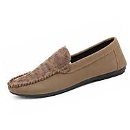 baratos Sapatos Masculinos-Homens Mocassim Couro de Porco Outono Mocassins e Slip-Ons Preto / Marron