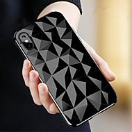 billiga Mobil cases & Skärmskydd-fodral Till Apple iPhone X / iPhone 8 Genomskinlig Skal Geometriska mönster Mjukt TPU för iPhone X / iPhone 8 Plus / iPhone 8