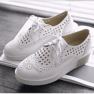 cheap Women's Oxfords-Women's Shoes PU(Polyurethane) Summer Comfort Oxfords Creepers Round Toe White / Black / Pink