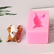 billige Bakeredskap-Bakeware verktøy Silikon 3D-tegneseriefigur / Smuk / Kreativ Kake / Multifunktion / Sjokolade Kvadrat Cake Moulds 1pc