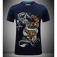 Rund hals Herre - Dyr T-shirt / Kortærmet