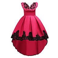 שמלה עד הברך / א-סימטרי ללא שרוולים פרחוני Party / ליציאה בסיסי / מתוק בנות ילדים / כותנה