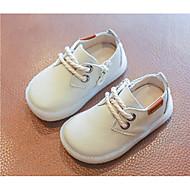 baratos Sapatos de Menino-Para Meninos / Para Meninas Sapatos Pele Primavera & Outono Conforto / Primeiros Passos Oxfords para Preto / Bege / Amarelo