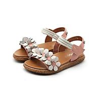 baratos Sapatos de Menina-Para Meninas Sapatos Pele Verão Conforto Sandálias Flor para Infantil Branco / Vermelho / Rosa claro