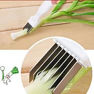 baratos Utensílios de Cozinha-1pç Utensílios de cozinha Aço Inoxidável Início ferramenta da cozinha Formas / Fatiador Vegetais / Pepino / Cebola