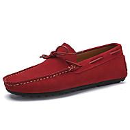 Χαμηλού Κόστους Αντρικά Ναυτικά Παπούτσια-Ανδρικά Σουέτ Άνοιξη / Φθινόπωρο Ανατομικό Παπούτσια Boat Σκούρο μπλε / Γκρίζο / Κόκκινο