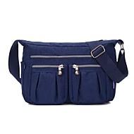 baratos Bolsas de Ombro-Mulheres Bolsas Tecido Oxford Bolsa de Ombro Ziper Fúcsia / Azul Marinho / Azul Céu