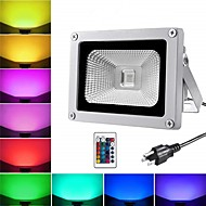 tanie Naświetlacze-1 szt. 10 W Reflektory LED / Światła do trawy Wodoodporny / Zdalnie sterowany / Nowy design RGB 85-265 V Oświetlenie zwenętrzne / Dziedziniec / Ogród