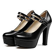 Femme Polyuréthane Automne Escarpin Basique Chaussures à Talons Talon Bottier Or / Noir / Argent / Quotidien