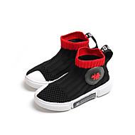 baratos Sapatos de Menino-Para Meninos Sapatos Tricô Primavera Verão / Outono & inverno Conforto Botas Caminhada para Infantil / Bébé Preto / Vermelho