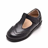 baratos Sapatos de Menina-Para Meninas Sapatos Pele Primavera & Outono Conforto / Sapatos para Daminhas de Honra Rasos para Branco / Preto