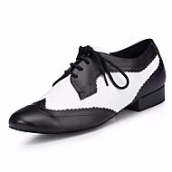 billige Moderne sko-Herre Moderne sko Lær Oxford Tykk hæl Dansesko Svart / Hvit