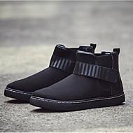 baratos Sapatos Masculinos-Homens Curta/Ankle Camurça Outono & inverno Botas Botas Curtas / Ankle Preto / Cinzento