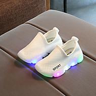 baratos Sapatos de Menino-Para Meninos / Para Meninas Sapatos Com Transparência Primavera & Outono Conforto / Tênis com LED Tênis LED para Infantil / Bébé Vermelho / Verde / Rosa claro