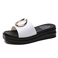 cheap -Women's PU(Polyurethane) Summer Slingback Slippers & Flip-Flops Creepers White / Black