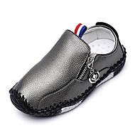 baratos Sapatos de Menino-Para Meninos Sapatos Couro Ecológico Outono & inverno Conforto Mocassins e Slip-Ons Caminhada para Infantil Preto / Cinzento / Amarelo
