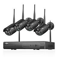 Hiseeu 1080 p kablosuz cctv sistemi hdd 2mp 4ch güçlü nvr ip ir-cut cctv kamera ip güvenlik sistemi gözetim kitleri