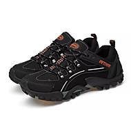 tanie Obuwie męskie-Męskie Komfortowe buty PU Wiosna / Jesień Sportowy Buty do lekkiej atletyki Turystyka górska Antypoślizgowe Czarny / Szary