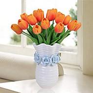 billige Kunstige blomster-Kunstige blomster 10 Gren Klassisk / Singel Stilfull / Pastorale Stilen Tulipaner Bordblomst