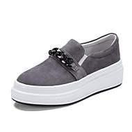 baratos Sapatos Femininos-Mulheres Sapatos Camurça Primavera Verão Conforto Mocassins e Slip-Ons Creepers Cinzento Claro / Rosa claro