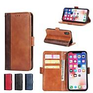 billiga Mobil cases & Skärmskydd-fodral Till Apple iPhone X / iPhone 8 Plus / iPhone XS Plånbok / Korthållare / med stativ Fodral Tegel Hårt PU läder för iPhone XS / iPhone XR / iPhone XS Max