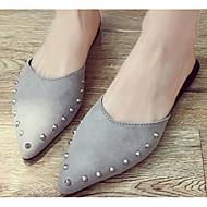baratos Sapatos Femininos-Mulheres Sapatos Confortáveis Couro Ecológico Primavera Verão Tamancos e Mules Sem Salto Preto / Cinzento / Vermelho