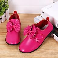 baratos Sapatos de Menina-Para Meninas Sapatos Pele Primavera & Outono Conforto / Sapatos para Daminhas de Honra Mocassins e Slip-Ons para Preto / Fúcsia / Rosa claro