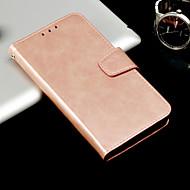 billiga Mobil cases & Skärmskydd-fodral Till Huawei Mate 10 pro / Mate 10 lite Plånbok / Korthållare / Lucka Fodral Enfärgad Hårt PU läder för Mate 10 pro / Mate 10 lite