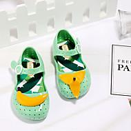 baratos Sapatos de Menina-Para Meninas Sapatos PVC Verão Plástico Sandálias Presilha para Bébé Amarelo / Verde / Rosa claro / Estampa Colorida