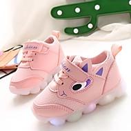 baratos Sapatos de Menina-Para Meninas Sapatos Com Transparência / Couro Ecológico Primavera Verão Conforto Tênis Caminhada LED para Adolescente Roxo / Vermelho / Rosa claro