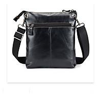 billige Mapper-unisex tasker nappa læder taske solid sort