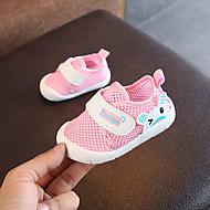 baratos Sapatos de Menino-Para Meninos / Para Meninas Sapatos Com Transparência Verão Primeiros Passos Tênis Velcro para Bebê Vermelho / Azul / Rosa claro