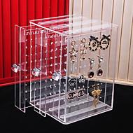 Espace de rangement Organisation Collection de bijoux Acrylique Forme de rectangle Créatif