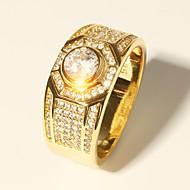 Herre Klassisk Stilfuldt Ring - Simuleret diamant Kostbar Luksus, Klassisk, Mode 7 / 8 / 9 / 10 / 11 Guld Til Aftenselskab Stævnemøde