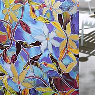 Χαμηλού Κόστους Πώληση-Window Film & αυτοκόλλητα Διακόσμηση Ματ / Σύγχρονο Λουλούδι PVC Αυτοκόλλητο παραθύρου / Ματ