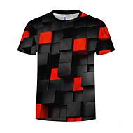 Herre - Geometrisk / Farveblok Trykt mønster Aktiv / Basale T-shirt
