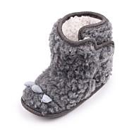 baratos Sapatos de Menina-Para Meninos / Para Meninas Sapatos Pêlo Sintético Inverno / Outono & inverno Sapatos de Berço / Botas de Neve Botas Velcro para Bebê Cinzento / Festas & Noite