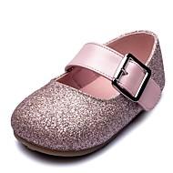 baratos Sapatos de Menina-Para Meninas Sapatos Couro Sintético / Sintéticos Primavera & Outono Conforto / Sapatos para Daminhas de Honra Rasos Velcro para Infantil Dourado / Prata / Rosa claro / Festas & Noite