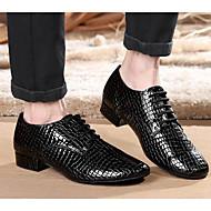 billige Moderne sko-Dame Moderne sko Lær Oxford / Høye hæler Tykk hæl Dansesko Svart / Ytelse / Trening