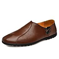 tanie Obuwie męskie-Męskie Nappa Leather Jesień & zima Comfort Mokasyny i pantofle Black / Light Brown / Dark Brown