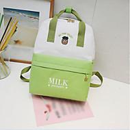 baratos Mochilas-Mulheres Bolsas Tela de pintura mochila Ziper Vermelho / Rosa / Amarelo