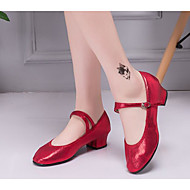 billige Moderne sko-Dame Moderne sko Syntetisk Høye hæler Tykk hæl Dansesko Gull / Sølv / Rød / Ytelse / Trening