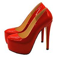 baratos Sapatos Femininos-Mulheres Stiletto Couro Ecológico Outono Saltos Salto Agulha Vermelho